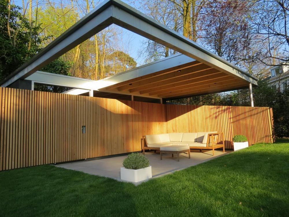 Berging met veranda bilthoven abjz architectenbureau for Berging met veranda