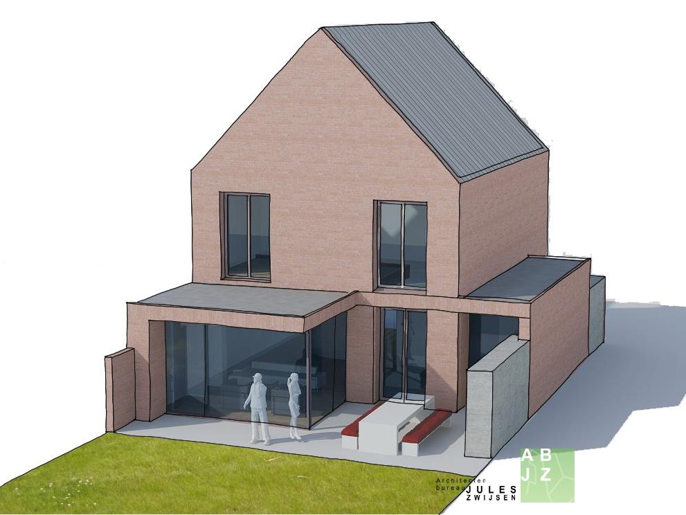 Moderne aanbouw cronenburgh u abjz architectenbureau jules zwijsen