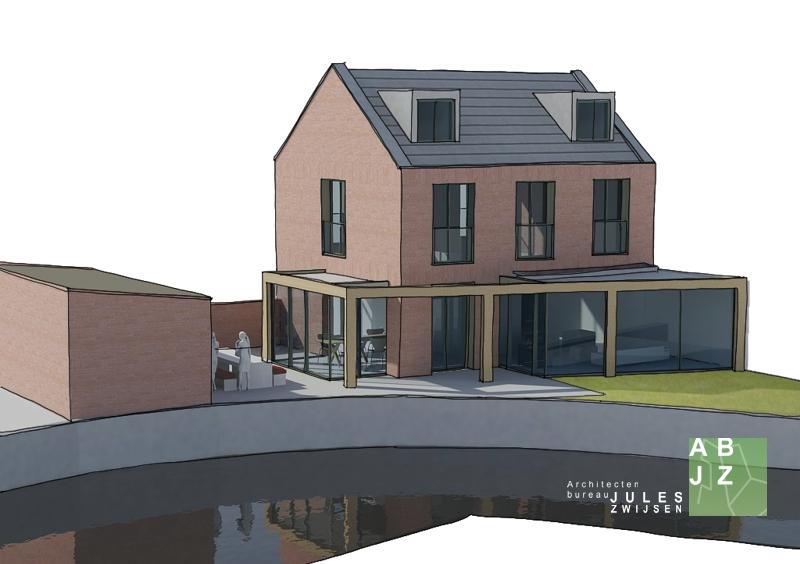 Moderne aanbouw vrijstaande woning loenen u2013 abjz architectenbureau